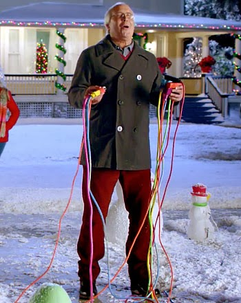 Clark Griswold, from awarding winning movie Christmas Vacation, Illustrates the wrong way to go about testing Christmas Lights this holiday season.
