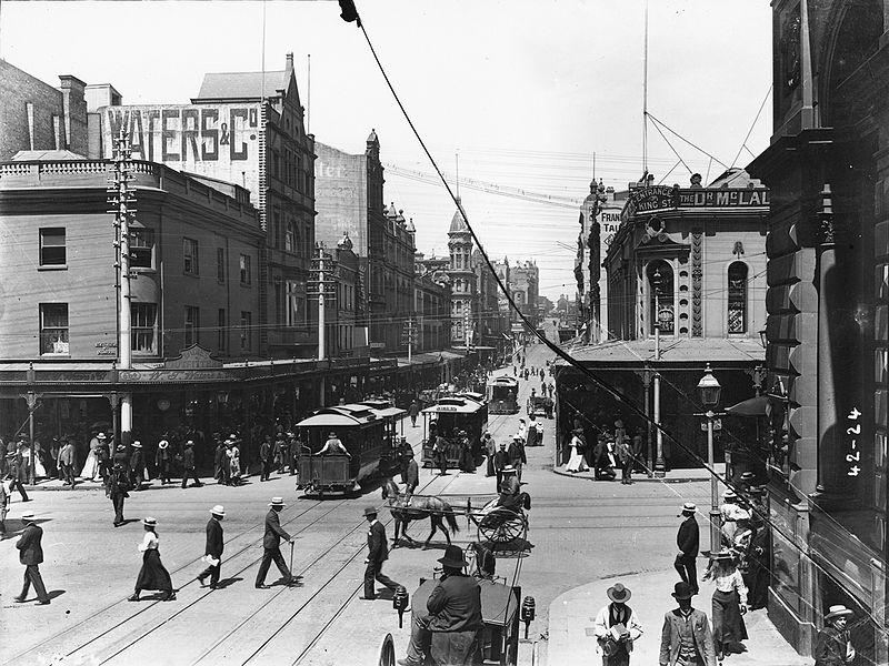 King Street, Sydney in the 1900s. Photo credit: Wikimedia