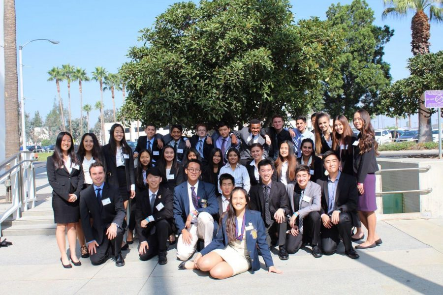 YLHS's FBLA just outside the Ontario Convention Center for LDI