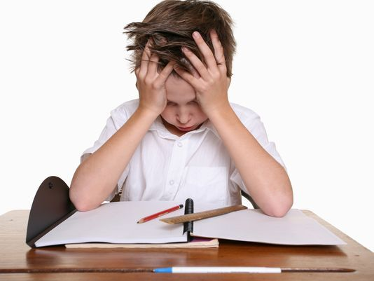 Young kids only learn how to stress from homework, not academics.