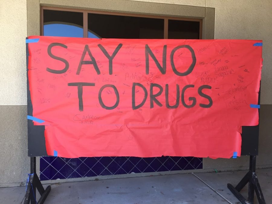 Students+of+YLHS+showed+their+commitment+to+a+drug+free+life+by+signing+this+poster.