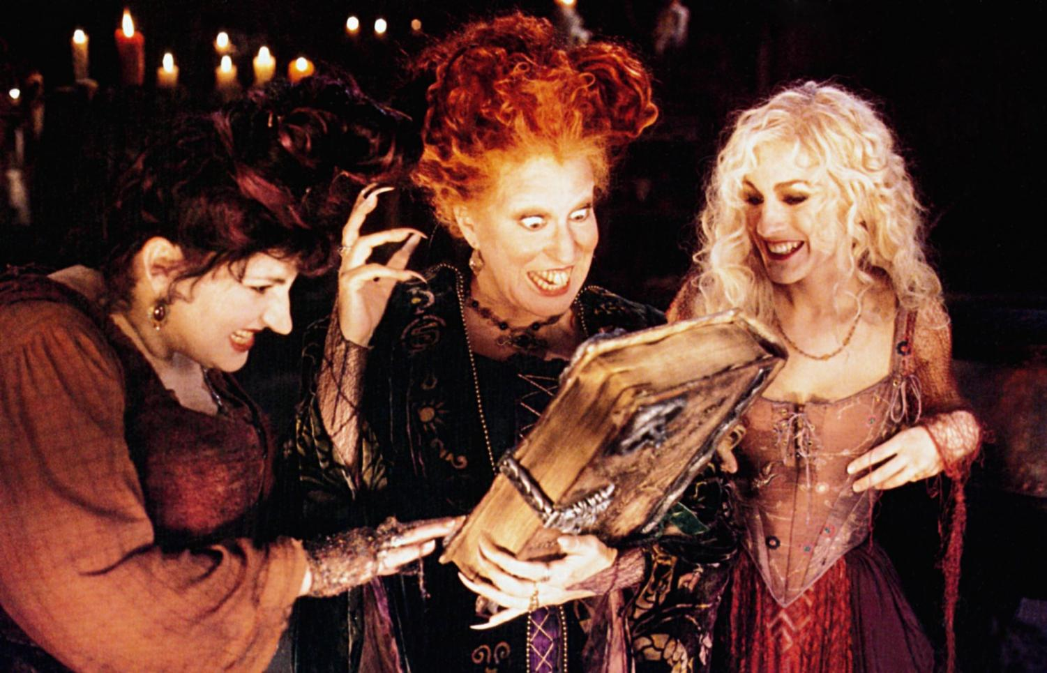 The Sanderson sisters in the original Hocus Pocus.