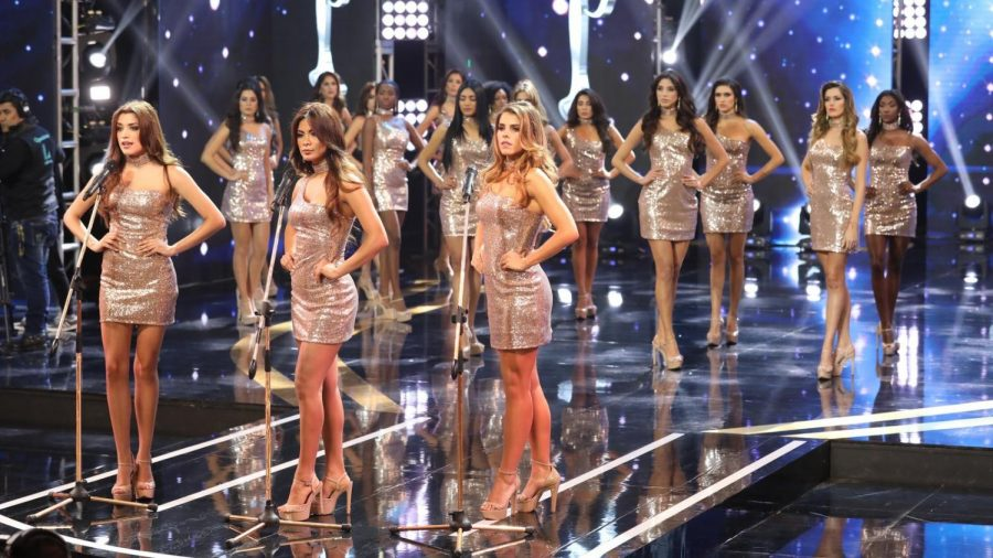 Miss+Peru+contestants+speak+up+against+violence+against+women.