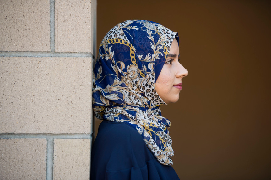 Iman Siddiqi, founder of the Refugee Student scholarship program on the UCI Campus.