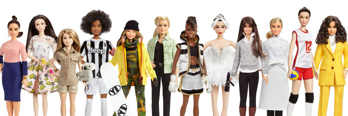 "Some of the new dolls released in ""The Inspiring Women"" series."