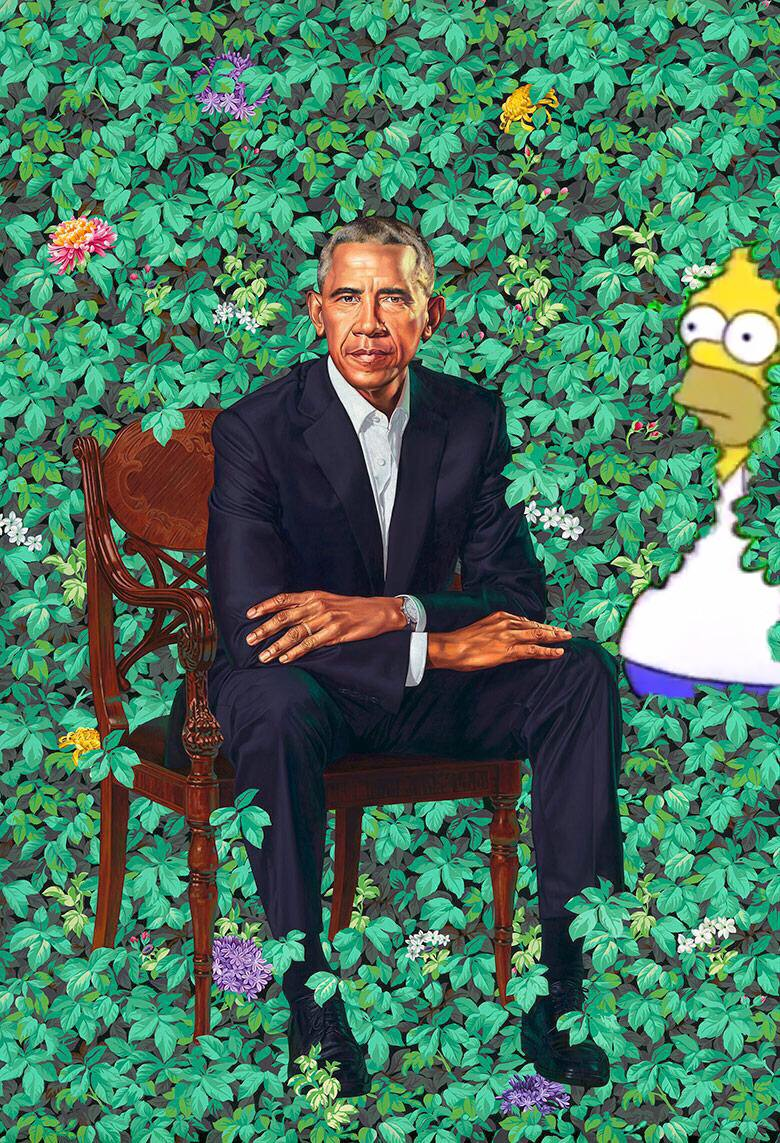Homer+Simpsons+peaking+in+on+Obama+from+the+bushes.+Photo+Credit%3A+Twitter