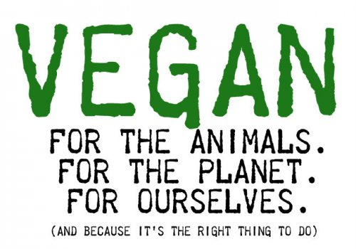 A vegan propaganda supporting the vegan lifestyle