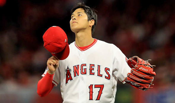 Above, Shohei Ohtani premiers in his first ever MLB BAseball game for the Anaheim Angels