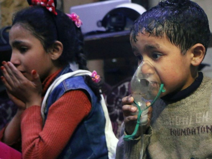 The chemical attack in Douma affected men, women, and children.