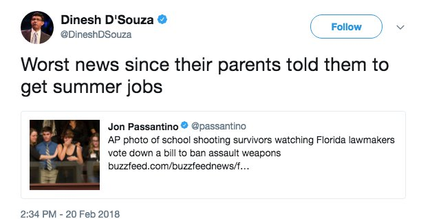 Dinesh D'Souza's tweet(Photo courtesy of Dailycaller)
