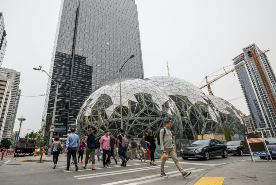 Amazon's headquarters, located in Seattle, Washington.