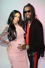 This is a picture of Cardi B and her soon to be husband, Offset, after they had announced that she was pregnant and people had been following the pregnancy for a while.