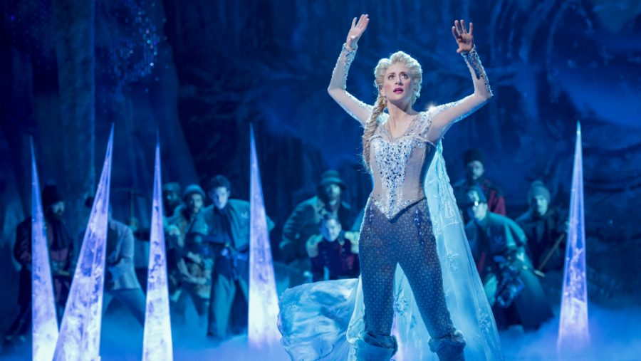 Caissie+Levy+as+Elsa+in+Frozen+on+Broadway.