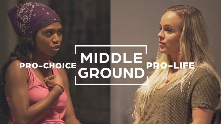 A Poster for one of the various episodes of Middle Ground. This episode surrounds pro-choice vs pro-life.