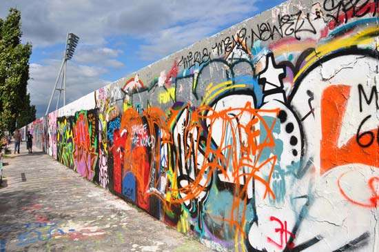 A wall of graffiti. Photo Credit: Britannica