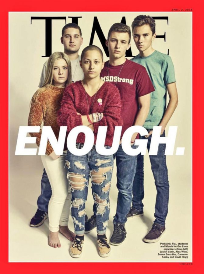 The+survivors+of+the+Florida+high+school+shooting+earlier+this+year+on+the+cover+of+Time.