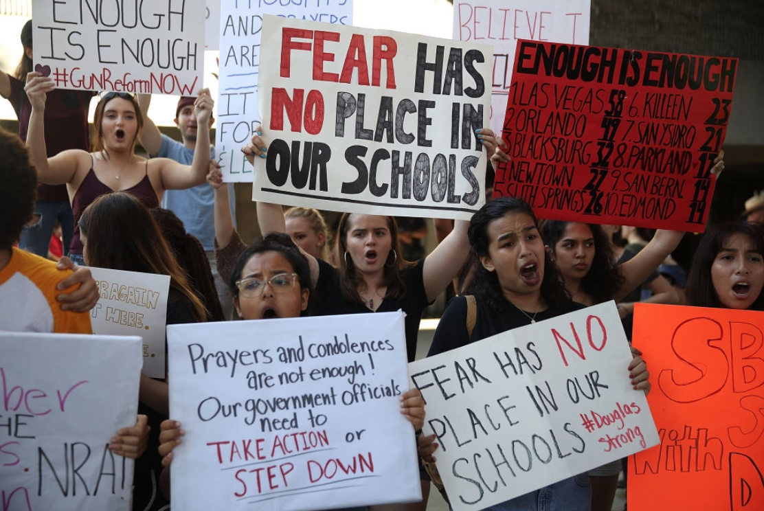 Many people across America marched in regards to the recent school shootings.