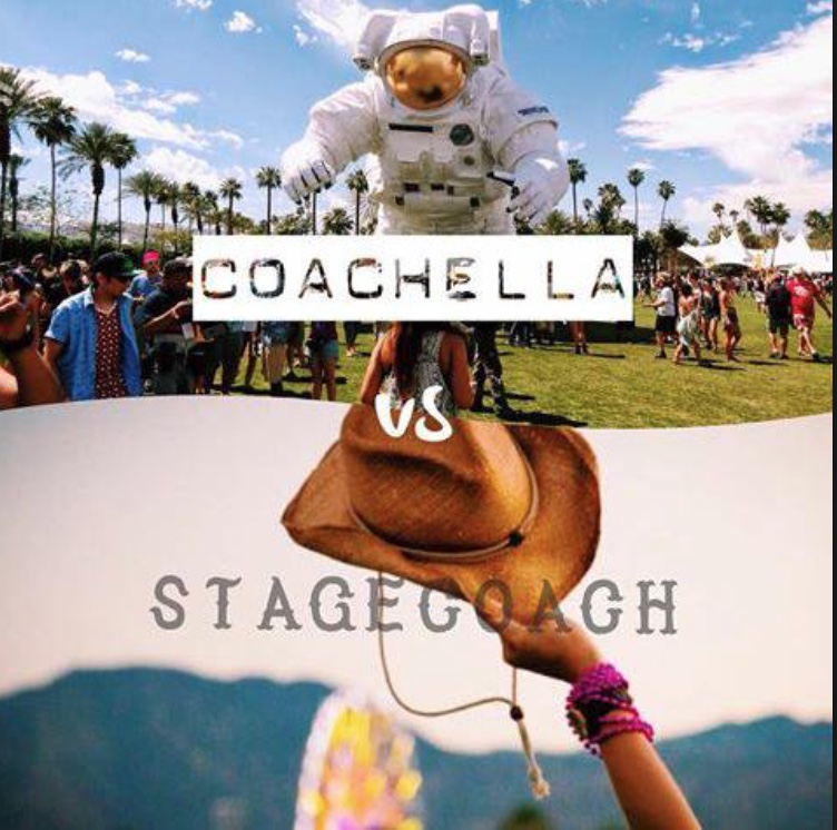 Thousand of people each year go to both Coachella and Stagecoach.