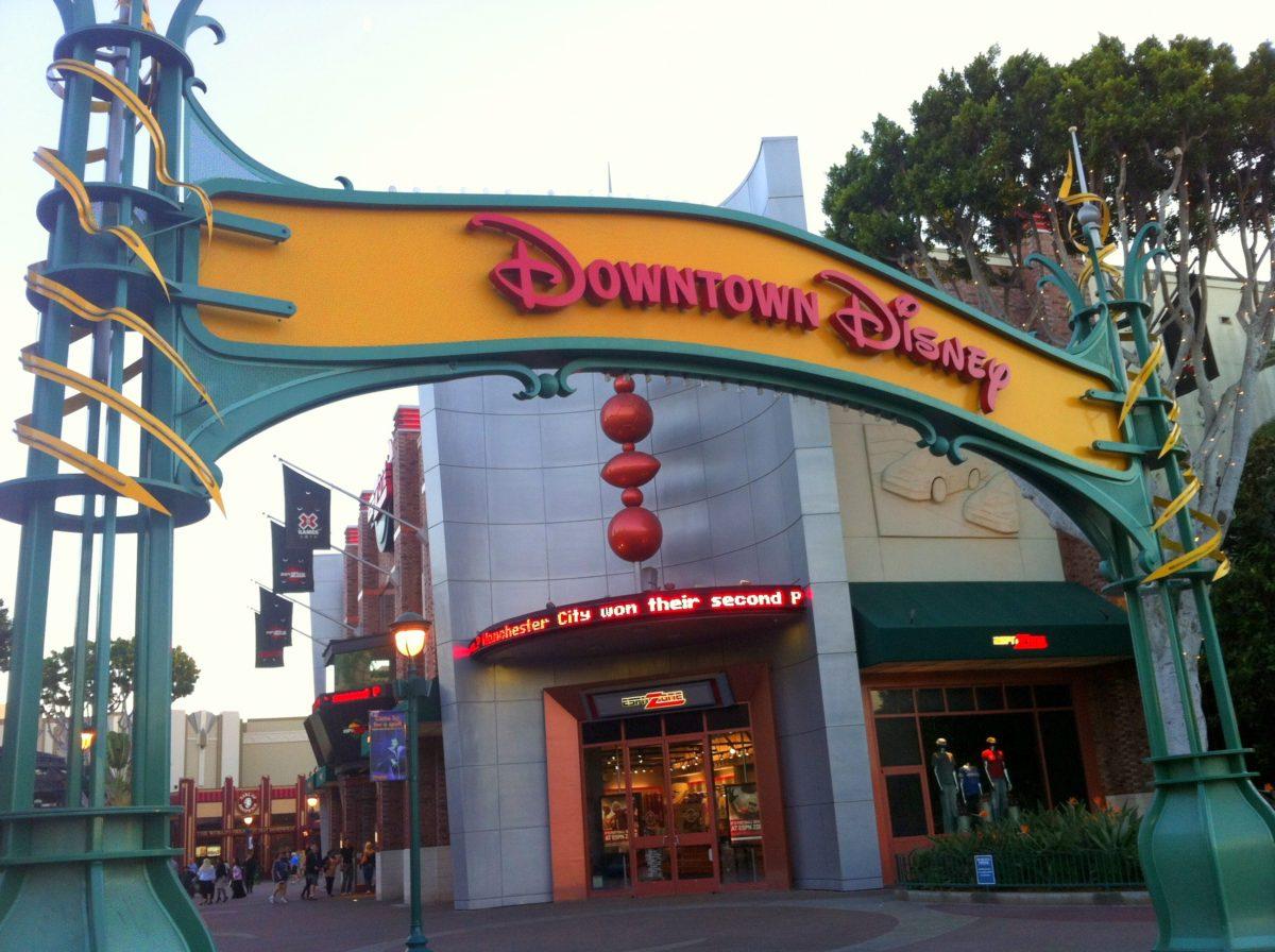 Downtown Disney entrance prior to shut down.