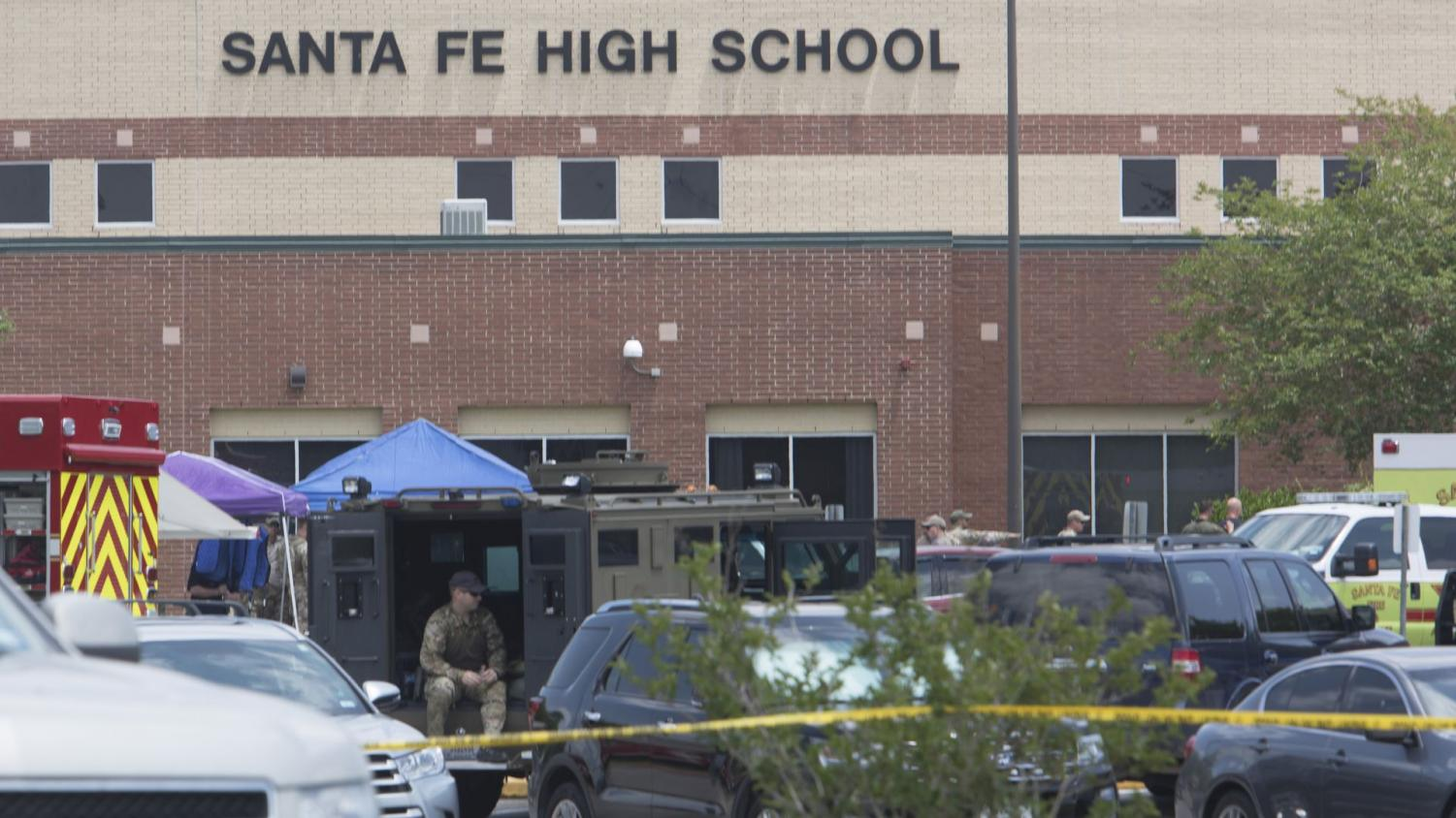 Santa Fe High School, where the shooting occured.
