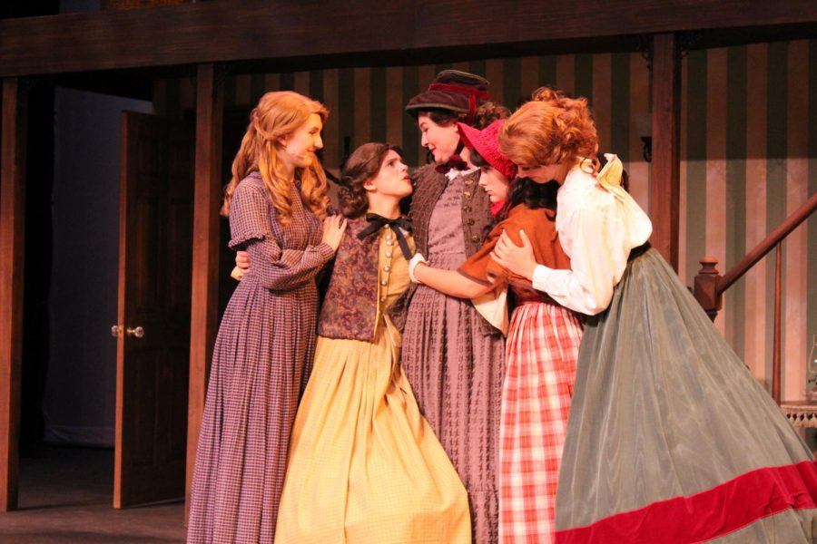 Little Women features Elyse Bell, Julia Massey, Claire Marshall, Rebecca Tront, and Kaitlyn Kraack.