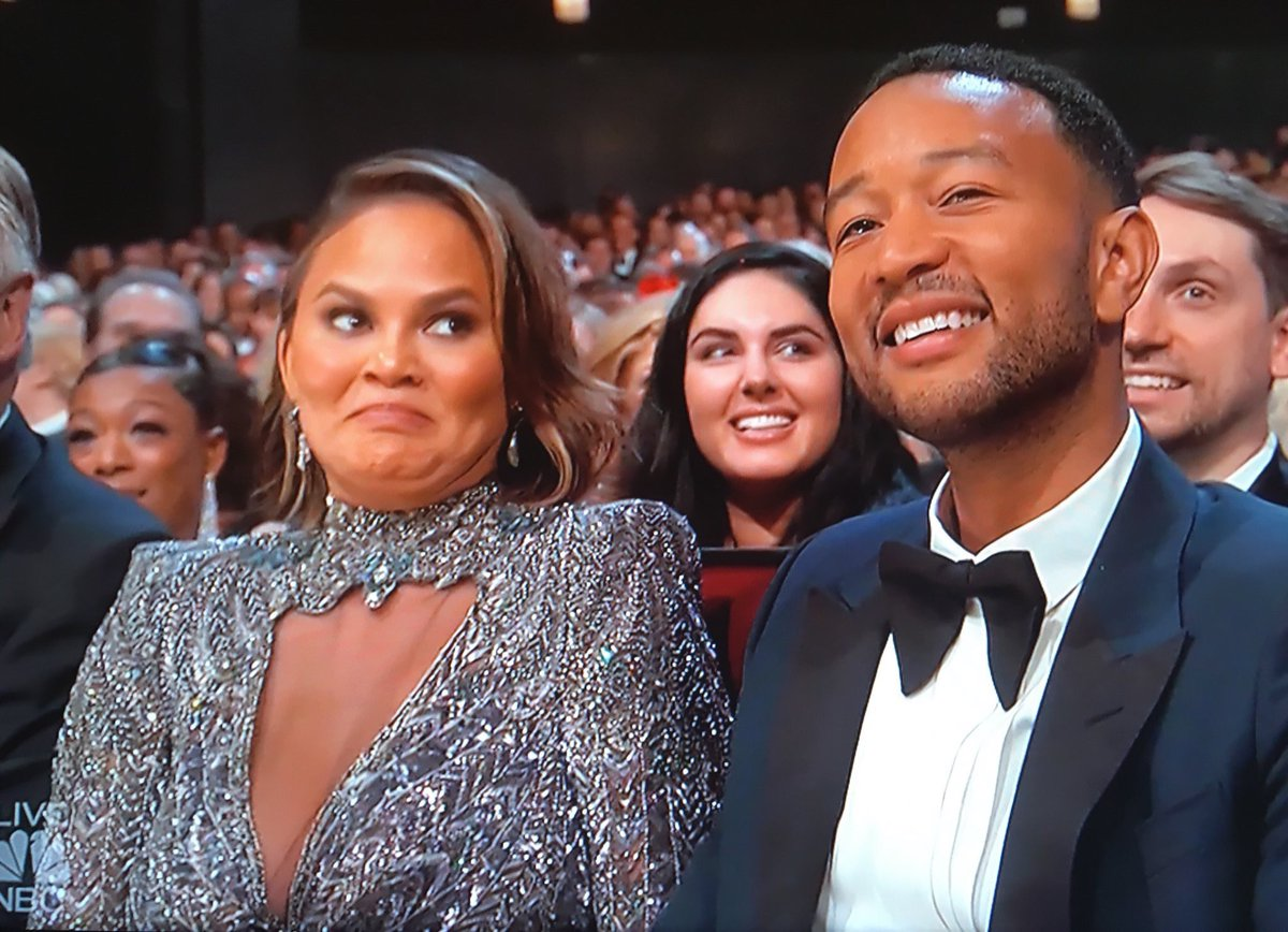 Chrissy Teigen's reaction to the Emmys was only one of several entertaining moments from the night.