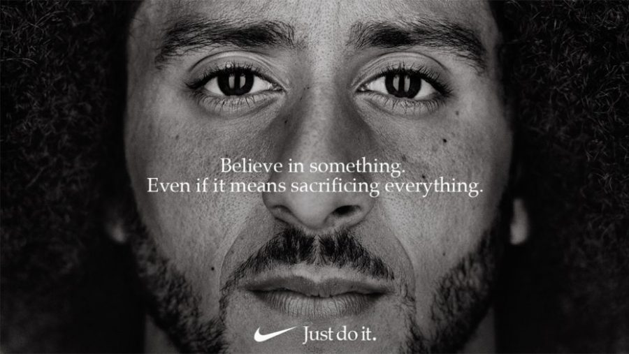 Nike+celebrates+it%27s+30th+anniversary+of+%22Just+Do+It%22+with+former+NFL+player%2C+Colin+Kaepernick%2C+as+the+new+face+of+the+campaign.