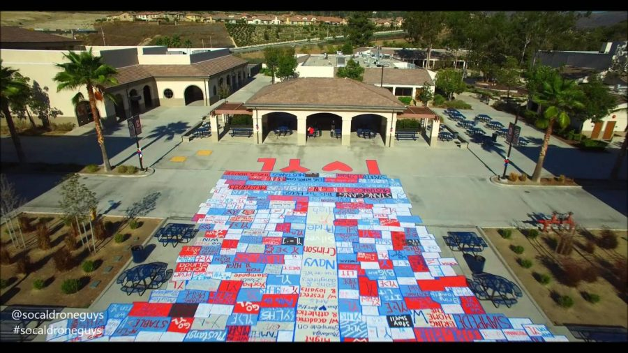 Yorba+Linda+High+School+during+spirit+week.+Photo+credits%3A+Socal+drone+guys+and+Mustang+Mix