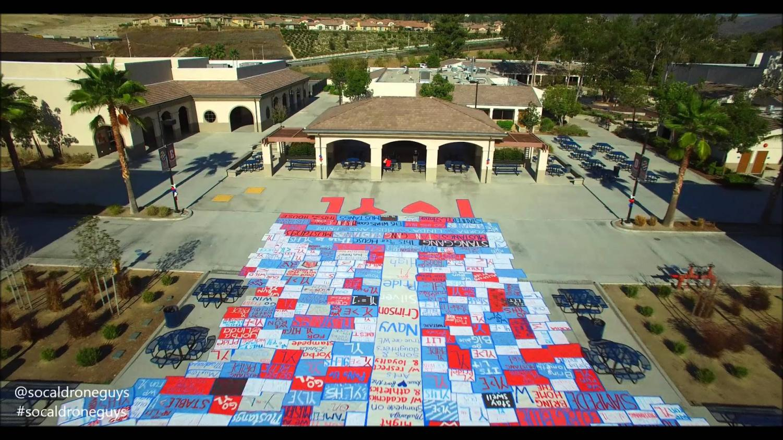 Yorba Linda High School during spirit week. Photo credits: Socal drone guys and Mustang Mix