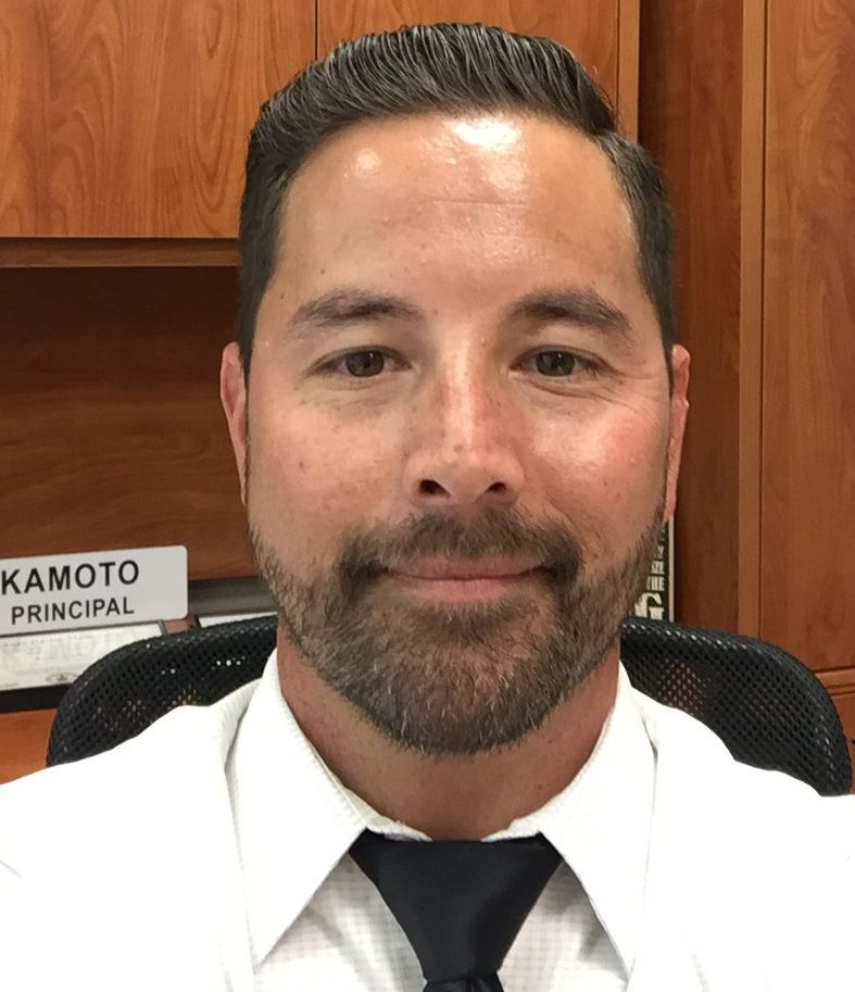 New Assistant Principal, Mr. Okamoto.