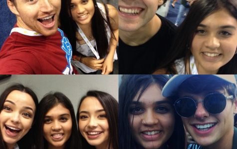 These are several pictures of social media influencers at a convention where they go specifically to meet fans and say hello.