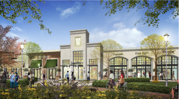 A conceptual drawing of what the Yorba Linda's Town Center might look like.