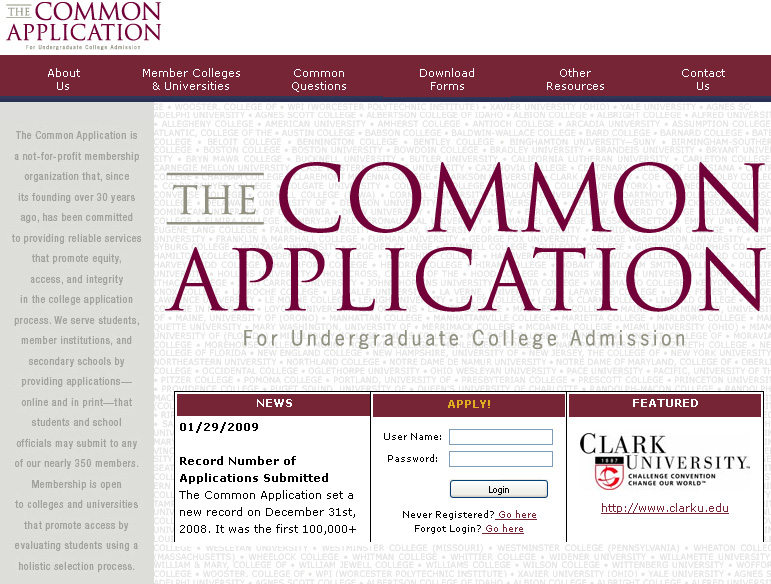 The+Common+App+is+one+form+of+college+application+that+students+will+use.