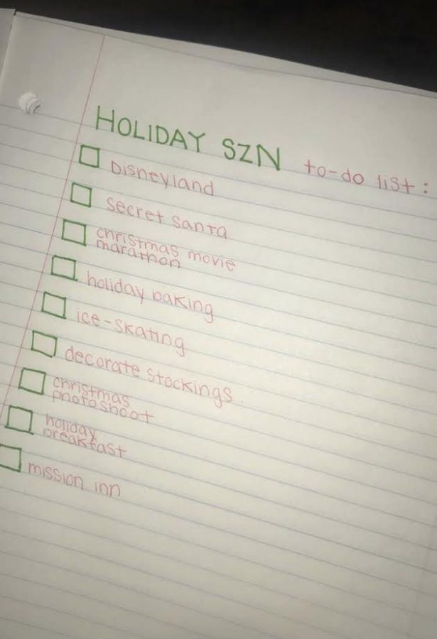 Holiday Szn To-Do List