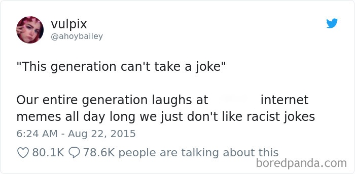 Twitter user @ahoybailey defends the upcoming generation on sensitivity