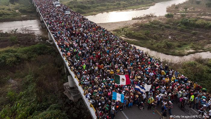 Caravan+on+its+way+to+the+US+border+for+asylum.+