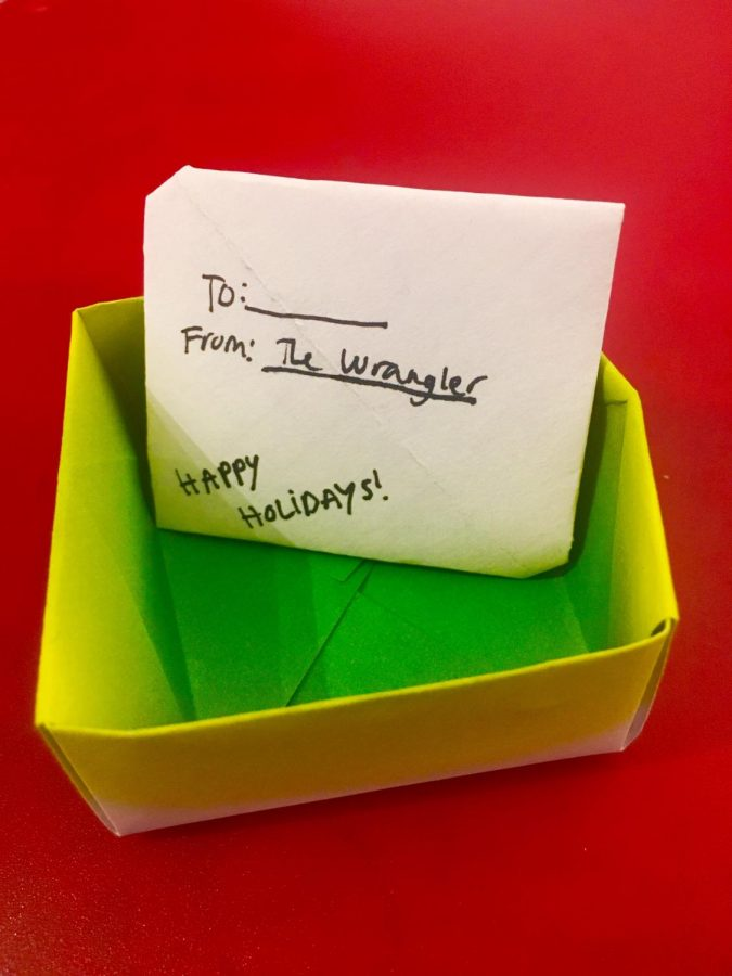 Try making a DIY box and letter for your holiday gifts.