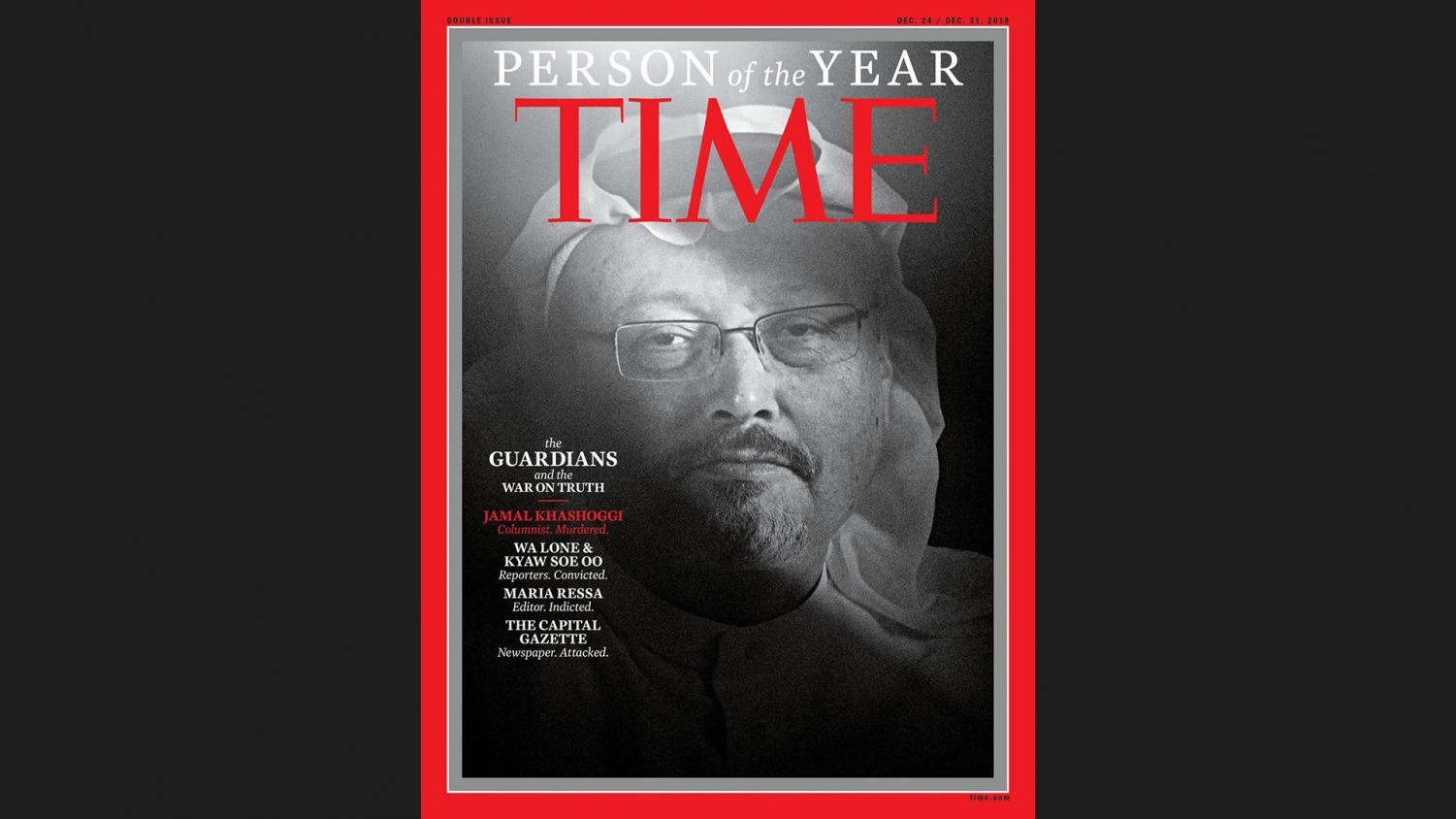 """Time Magazine has awarded the honor of person of the year to a group known as the """"guardians"""" that consist of journalists and reporters that have been executed or jailed in an effort to reveal the truth."""