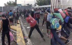 Migrant Caravan Runs the Border in Attempt to Cross Over