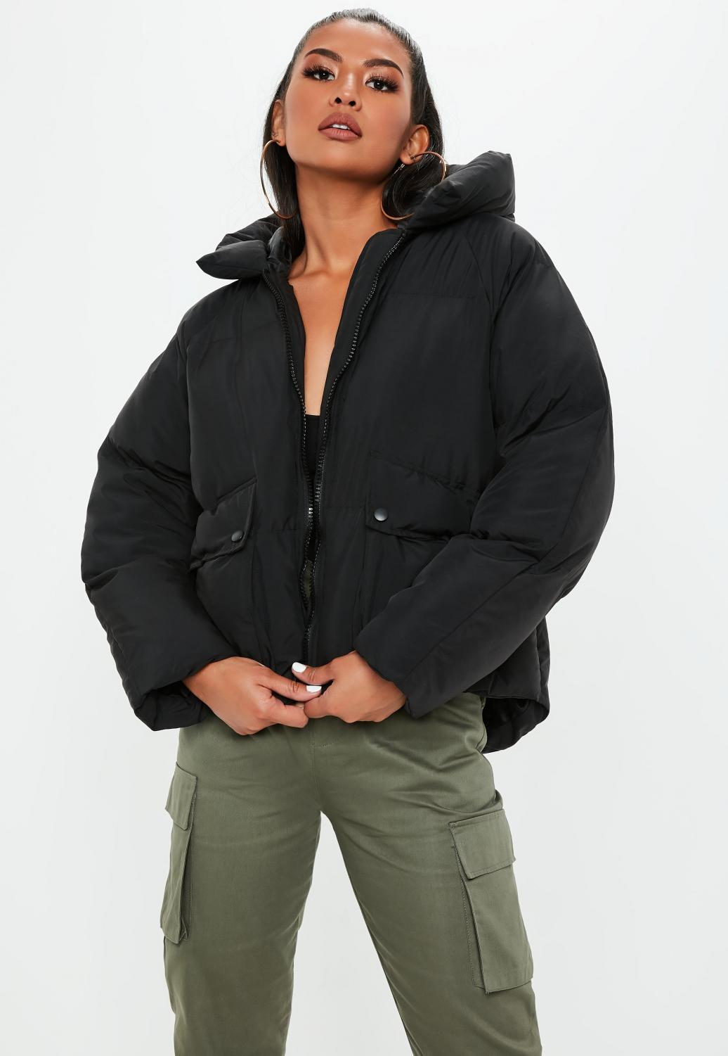 Oversized puffer jackets have been one of many trends this season.