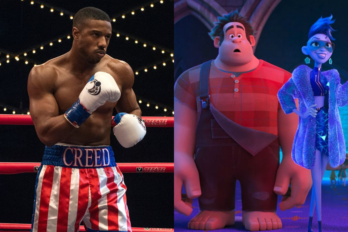 'Ralph Breaks the Internet' and 'Creed II' took the top two spots in the box office during Thanksgiving 2018.