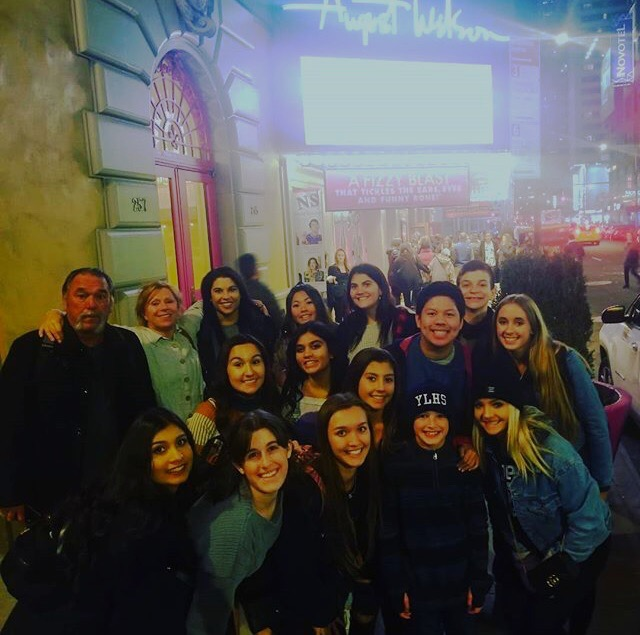 Newspaper and Yearbook Class Attending the Broadway Production of Mean Girls during their trip to New York.
