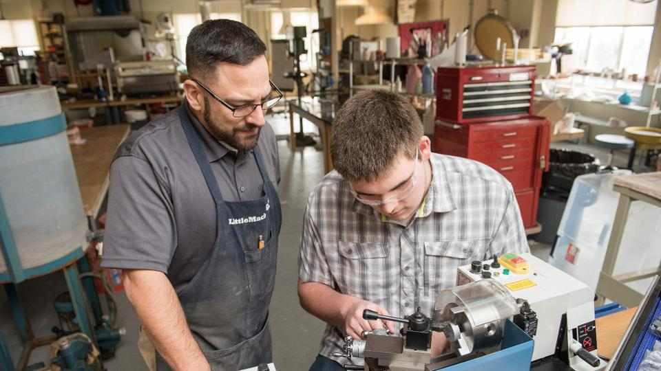 A good alternative to college is trade schools, such as the welding school this young man attends.