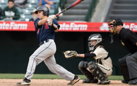 Above, Cole Smith displays his talents on the diamond in last years Angel Stadium Game.