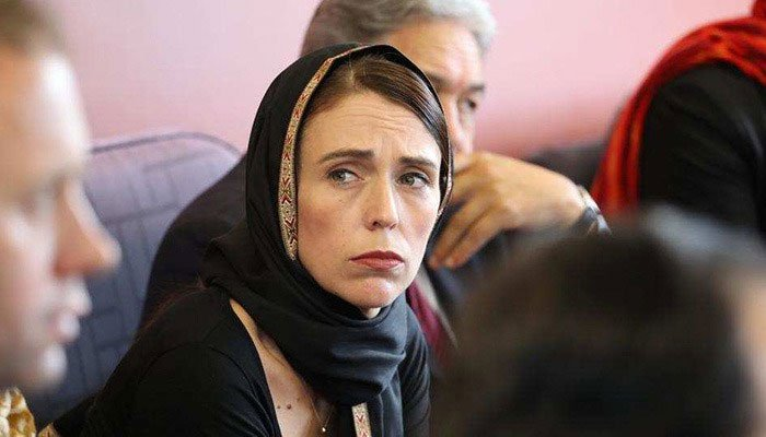 Prime Minister, Jacinda Ardern, wears the hijab as a symbol of respect while visiting the victims of the shooting.