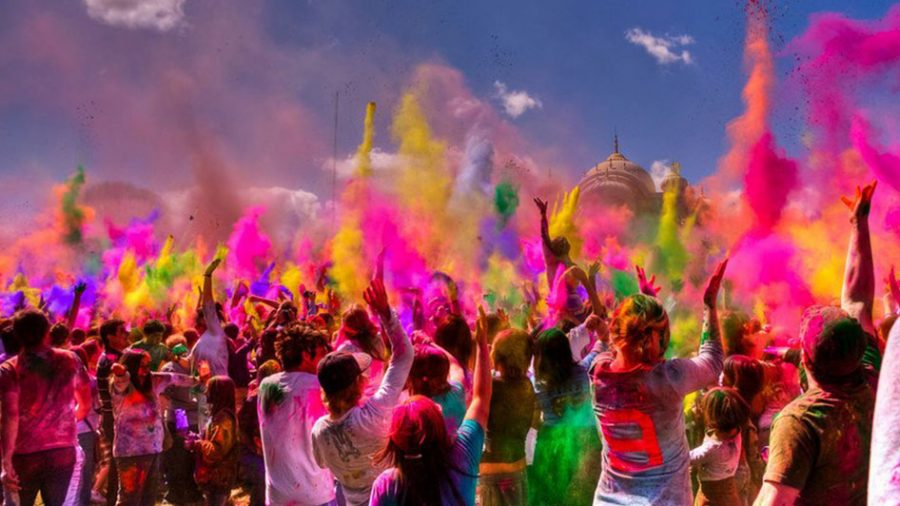 Holi+is+an+ancient+Indian+festival+celebrating+the+change+in+seasons+with+color.