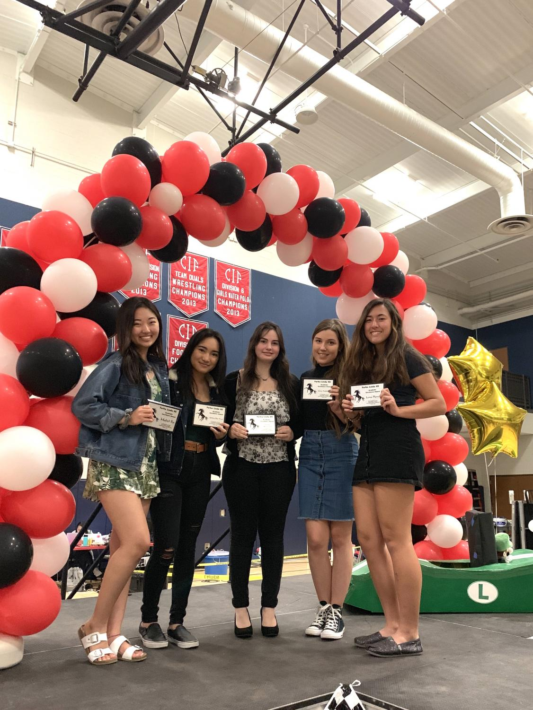 L-R: Mabel Ra (12), Ashley Bui-Tran (12), Jenna Weitzman (12), Aino Häkkinen (12), Lena Plover (12)
