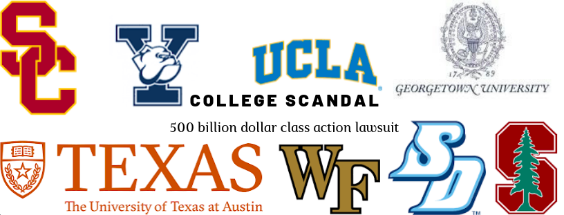 The colleges involved with the scandal.