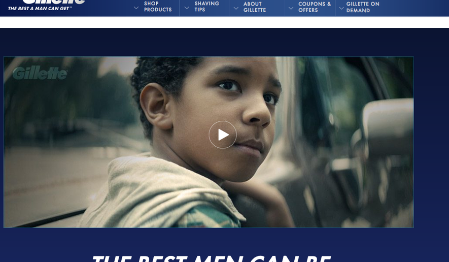 Gillette%27s+ad+aimed+to+address+toxic+masculinity+faces+backlash+and+controversy+%28photo+courtesy+of+Washington+Times%29