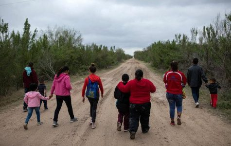 Immigrants making their way to the US-Mexico Border.
